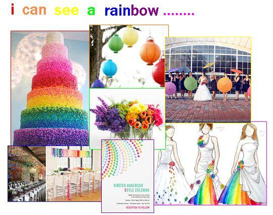 Rainbow Wedding Theme