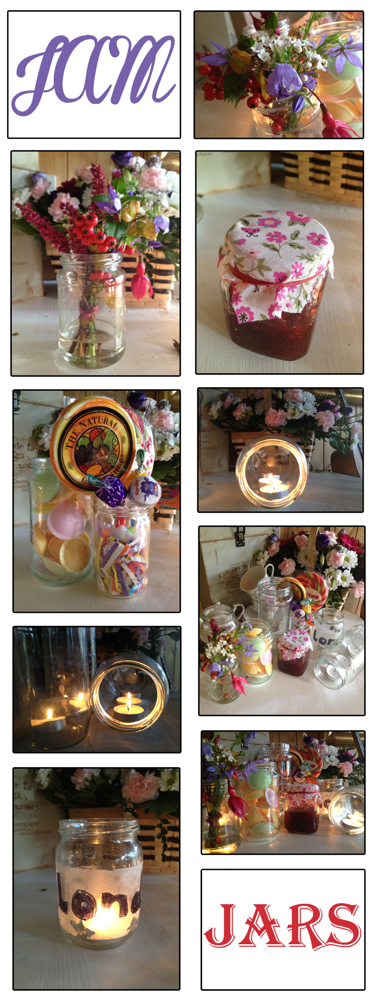 What to use Jam Jars For at Weddings