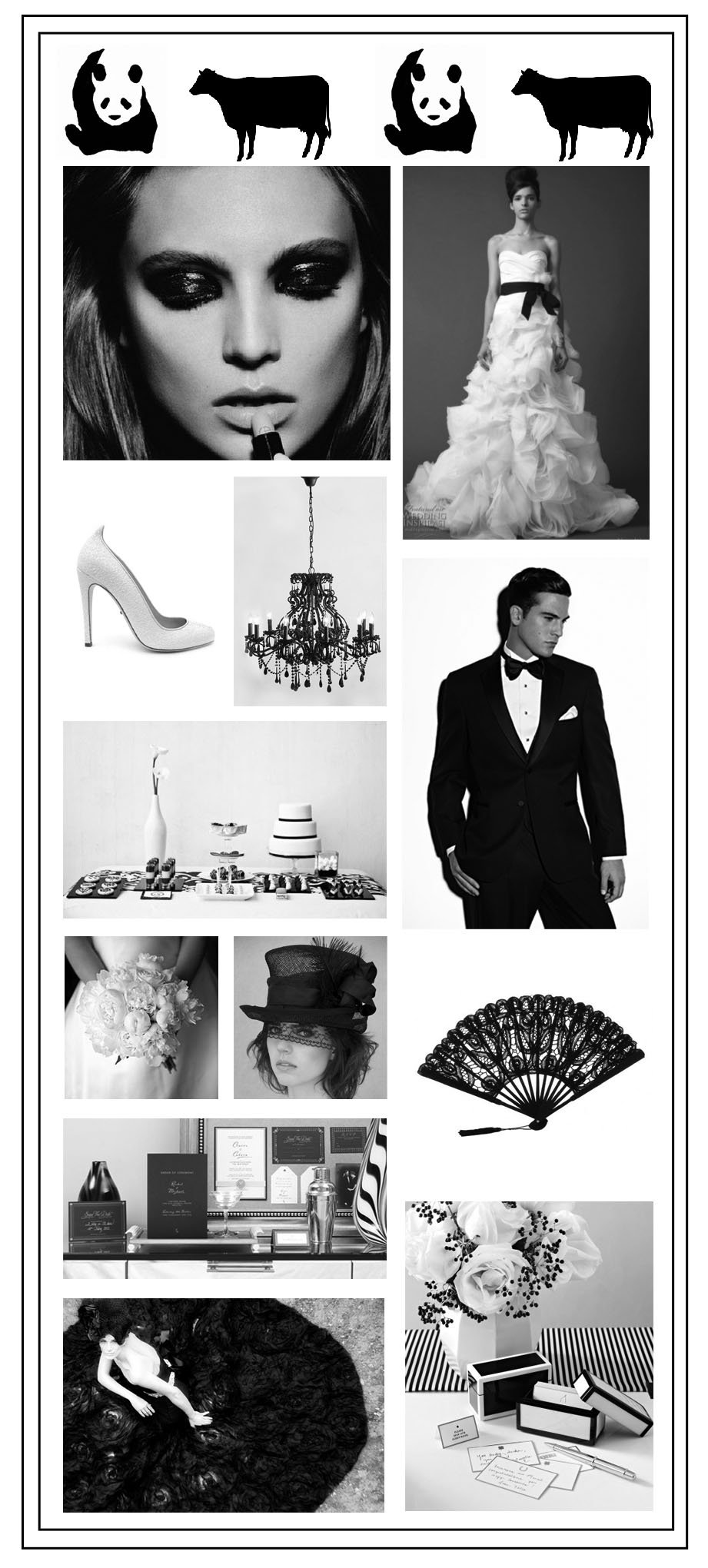 Black & White Wedding Palette
