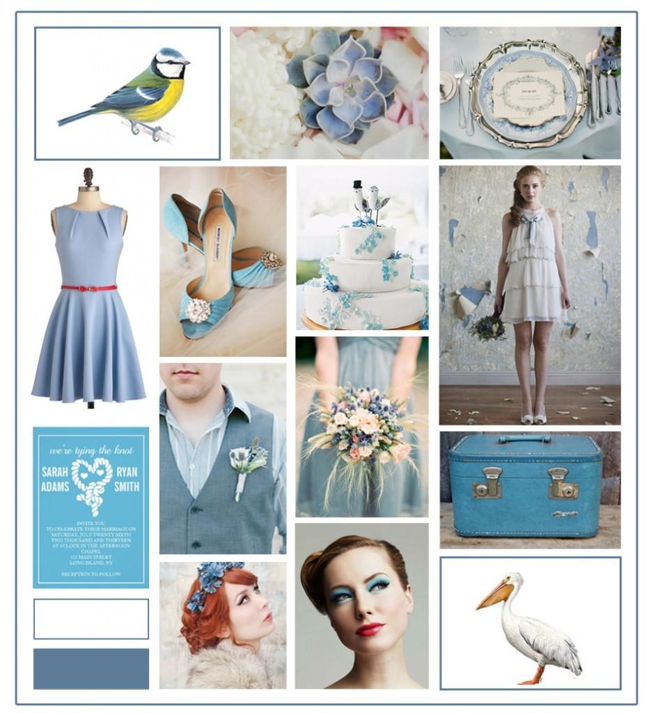 Dusk Blue and White Pantone Wedding