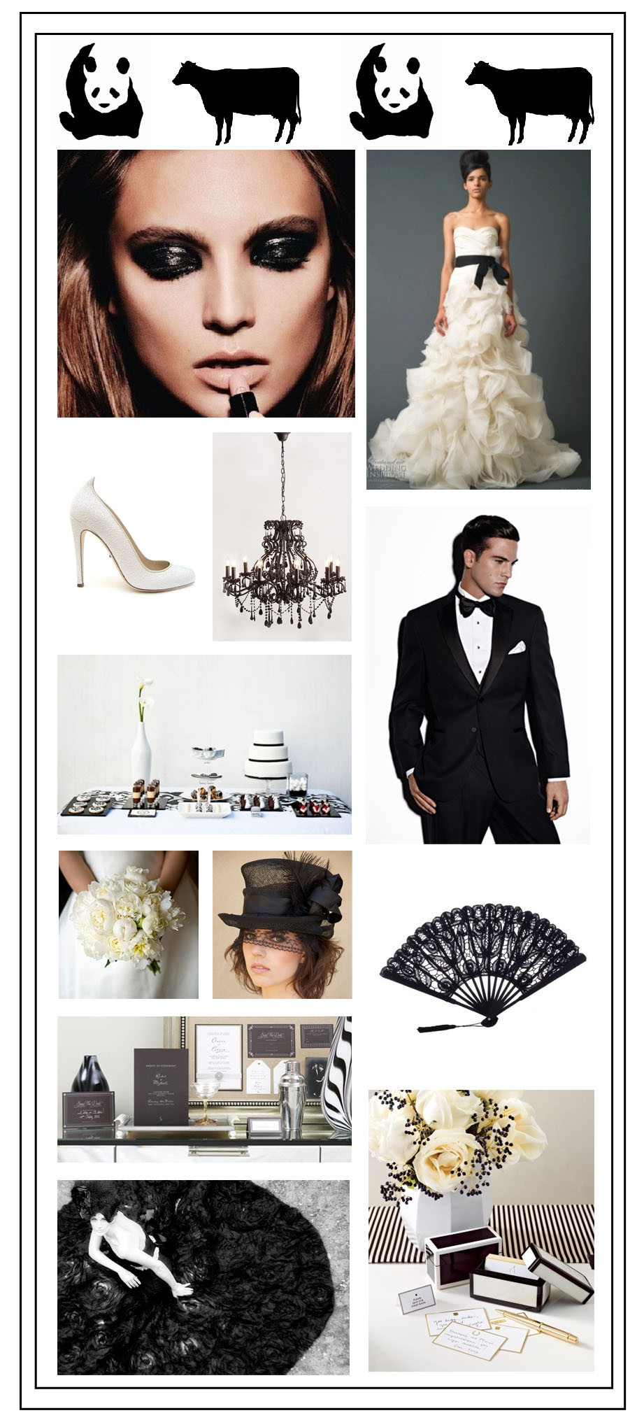 Black & White Wedding Colour Design