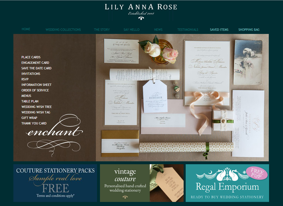 Matthew Oliver, Loves Lily Anna Rose Wedding Stationery