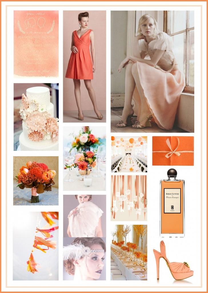 Nectarine Pantone 2013, Linen Pantone 2013, Wedding Colours 2013, Wedding Coloured Themes 2013, Wedding Styles 2013, Wedding Fashion 2013