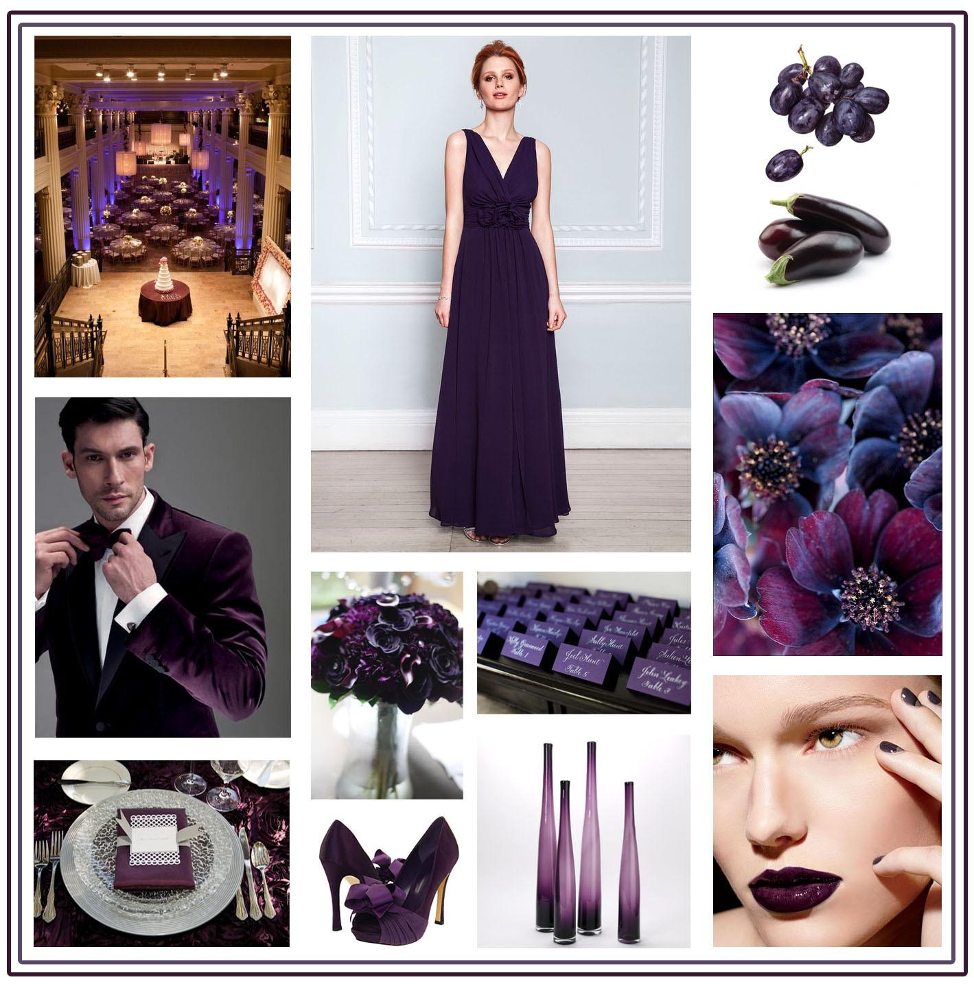 Dark Purple Wedding Palette