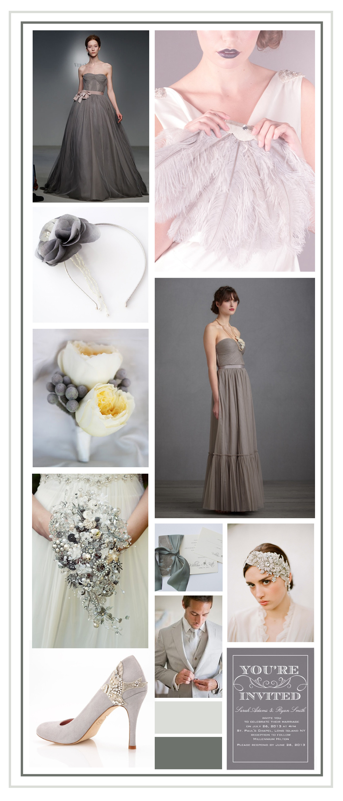Grey Wedding Colour Palette