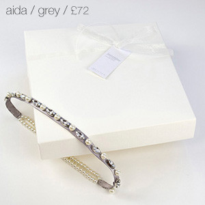 Aida Bridal Garter Grey
