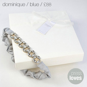Dominique Bridal Garter Blue