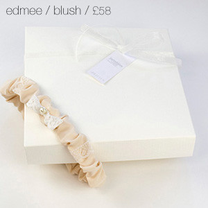 Edmee Bridal Garter Blush