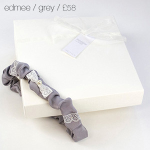 Edmee Bridal Garter Grey