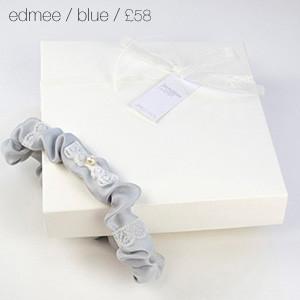 Edmee Bridal Garter Blue