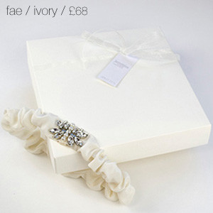 Fae Bridal Garter Ivory