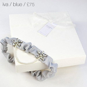 Iva Bridal Garter Blue