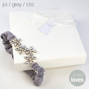 Joi Bridal Garter Grey