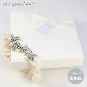 Joi Bridal Garter Ivory