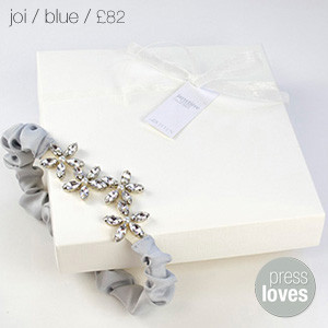 Joi Bridal Garter Blue