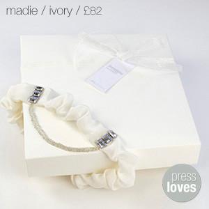 Madie Bridal Garter Ivory
