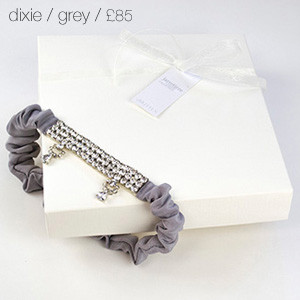 Dixie Bridal Garter Grey
