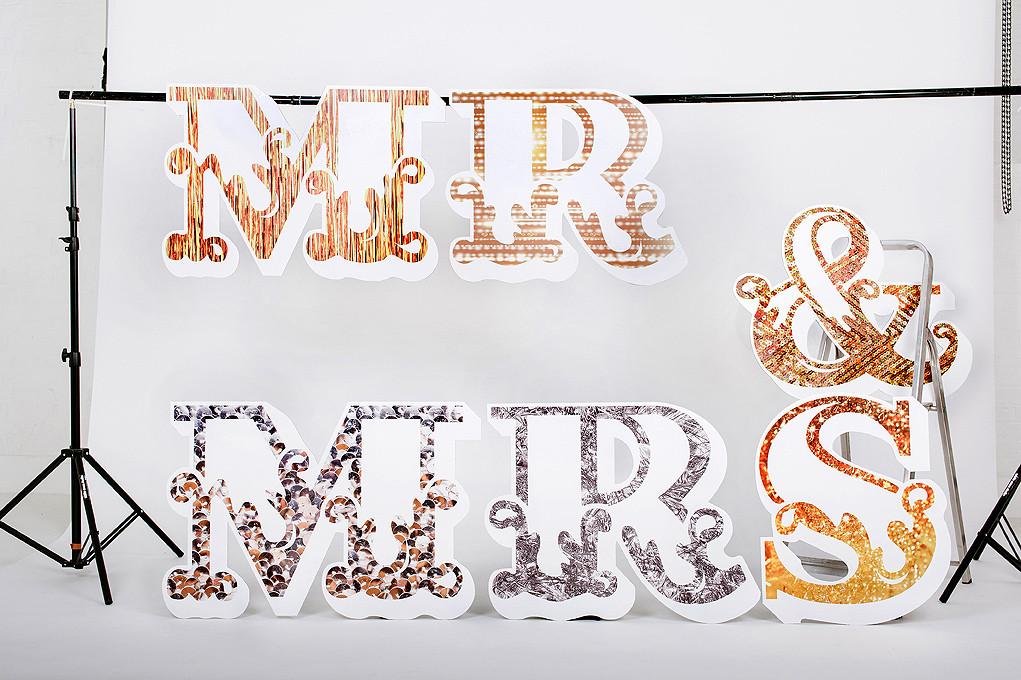 Scene Setter Textural Delights mr&mrs £145.00