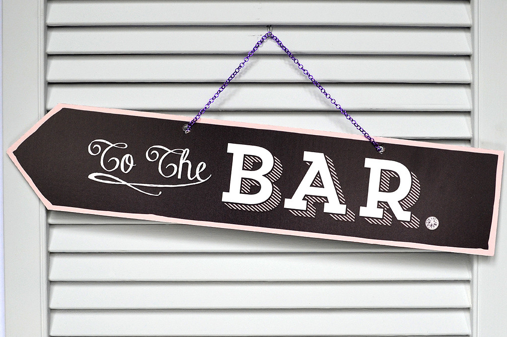 Scene Setter Urban Chalk Signage £50.00 To The Bar