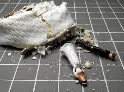The Card Gallery - Smashed wedding cake