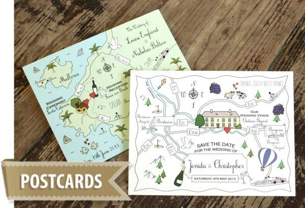 Cute Maps - Postcards from £120
