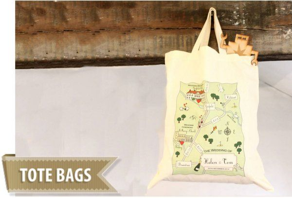 Cute Maps - Tote Bags from £11