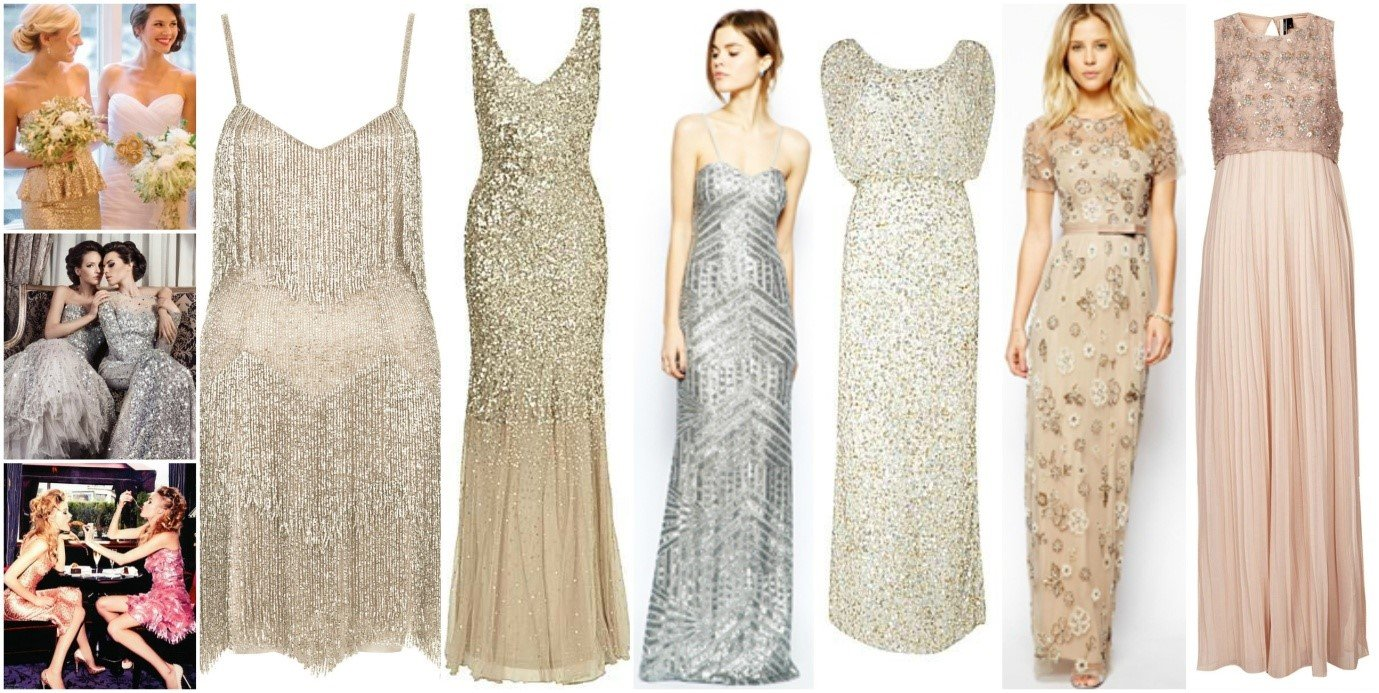 Bridesmaid Glitter Dresses