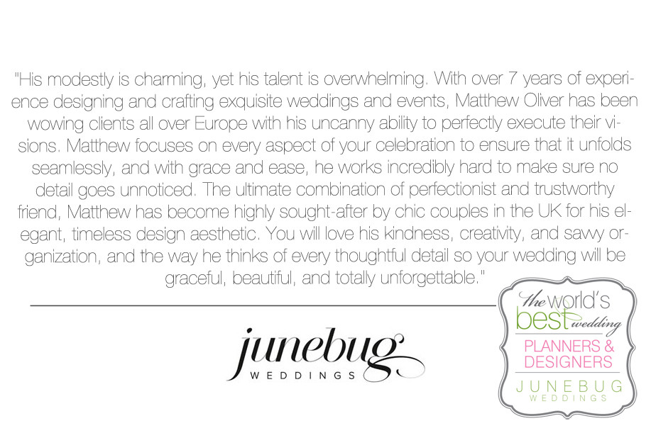 Junebug Weddings - Matthew Oliver Wedding Planner