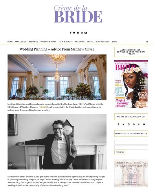 Matthew Oliver International Wedding Planner