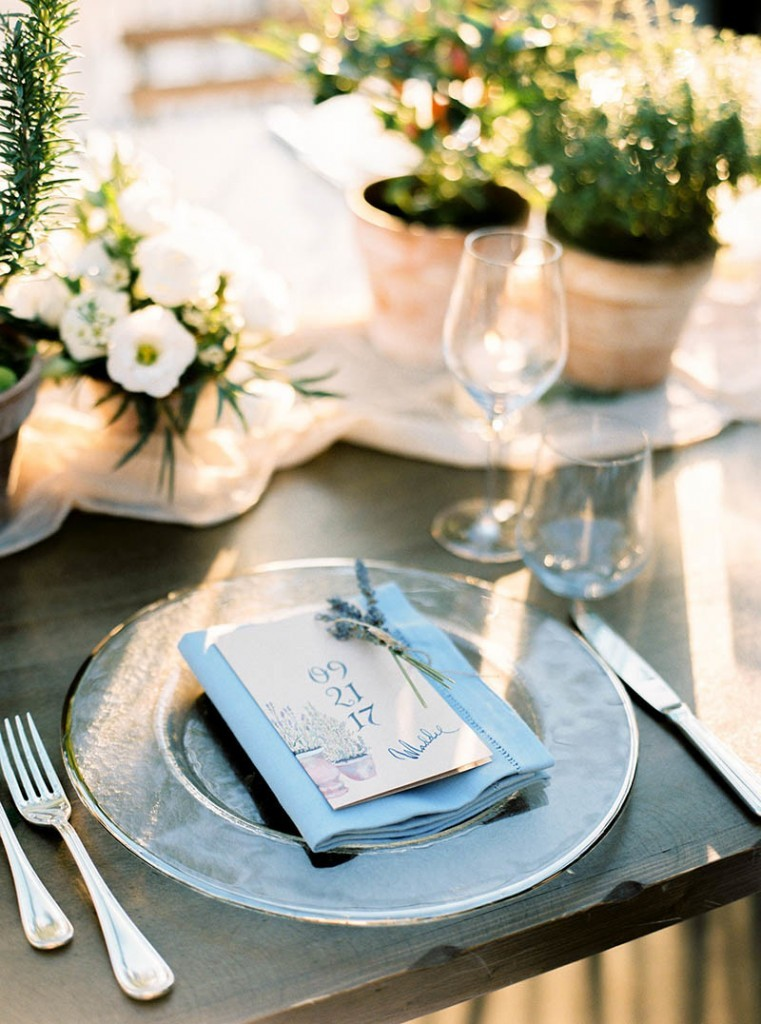 Destination Wedding Planner – place setting