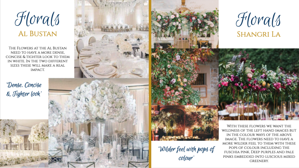 Design led wedding planner